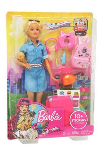 Girls Barbie Travel Lead Doll