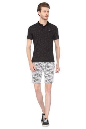 Mens 4 Pocket Printed Shorts