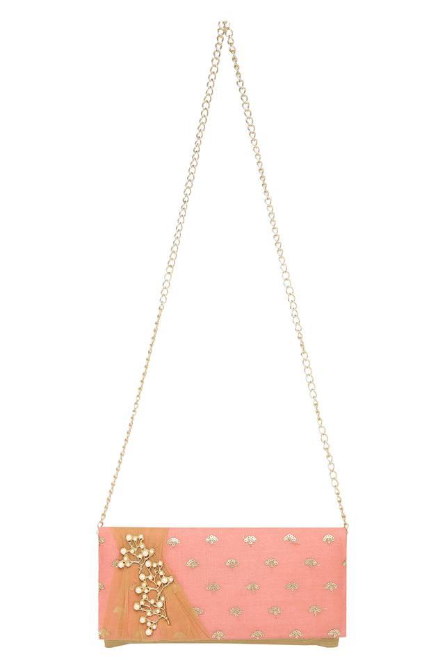 Womens Party Wear Snap Closure Sling Clutch