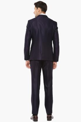 Mens Notched Lapel Self Pattern Suit