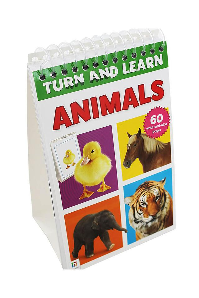 Turn and Learn Flip Pad: Animals