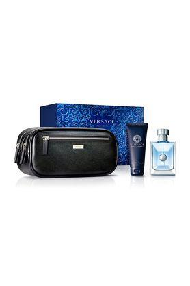Mens Pour Homme EDT Hair and Body Shampoo and Travel Pouch Set