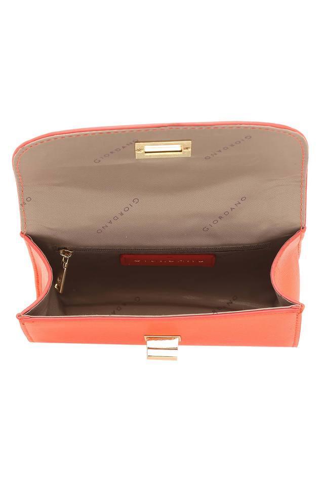 Womens Twist Clasp Closure Sling Bag