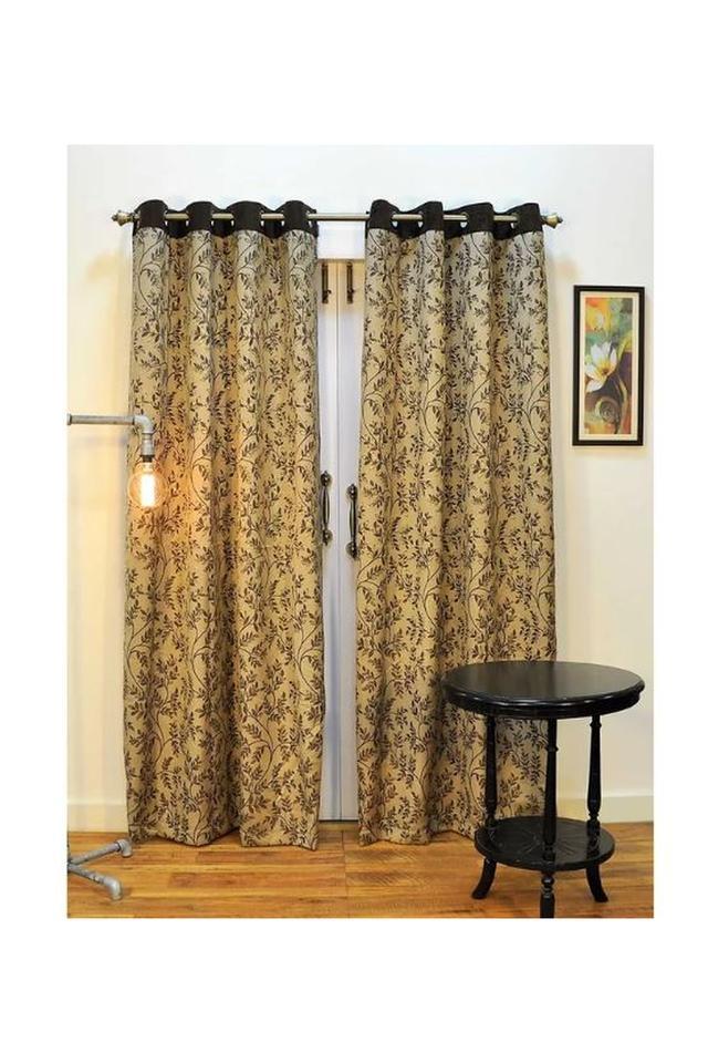 Leaf Printed Polyester Door Curtain