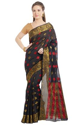 JASHNWomens Ethnic Zari Woven Art Silk Saree