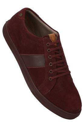 ALLEN SOLLY Mens Suede Lace Up Sneakers