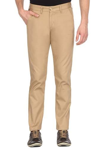 EASIES -  TanFormal Trousers - Main