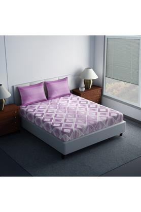 SPACESCotton Printed Double Bedsheet With 2 Pillow Covers - 203557289_9900
