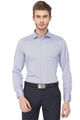 Mens Slim Fit Slub Formal Shirt