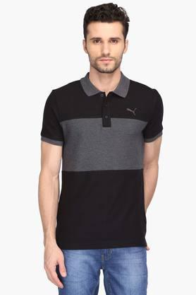 PUMA Mens Colour Block Polo T-Shirt - 203162265
