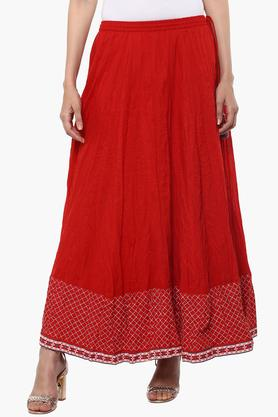 BIBA Womens Solid Long Skirt