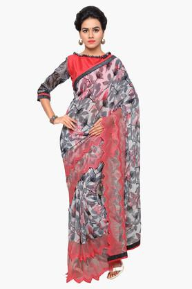 DEMARCA Womens Faux Georgette Printed Saree - 203229553