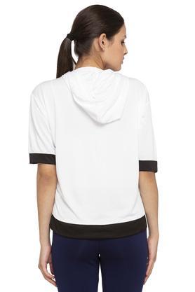 Womens Hooded Printed Top