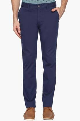 LOUIS PHILIPPE SPORTSMens 4 Pocket Solid Chinos - 203032907