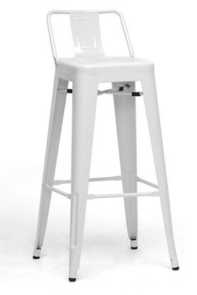 White Diana Bar Chair