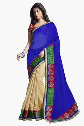 DEMARCA Womens Bhagalpuri Silk Embellished Saree