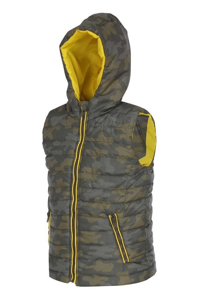 Boys Hooded Neck Printed Jacket