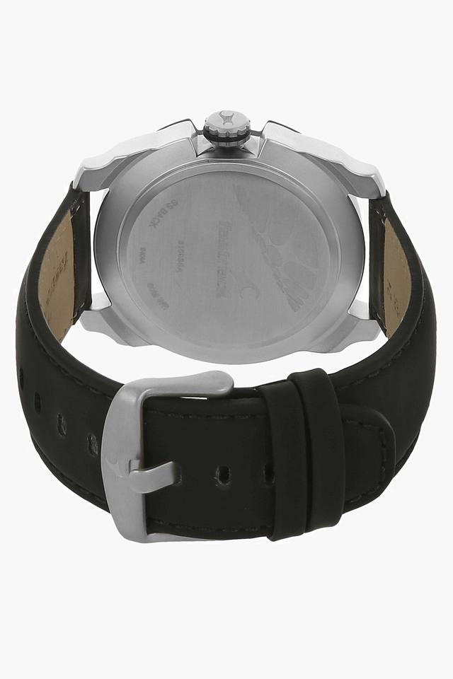 Silver Dial Leather Strap Watch - 3150KL01