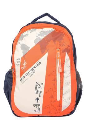 Unisex Graphic Print Zip Closure School Bag