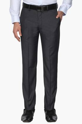 LOUIS PHILIPPE Mens 4 Pocket Slub Formal Trousers - 203054217