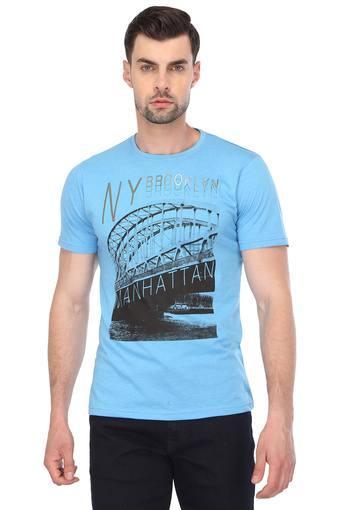 STOP -  Blue MelangeT-shirts - Main