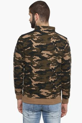 Mens High Neck Camouflage Sweatshirt