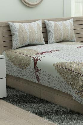 SPACESEthnic Rangana Printed Double Bed Sheet With Pillow Cover - 204761240_9450