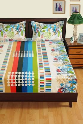 SWAYAM Printed Double Extra Large Bed Sheet With 2 Pillow Covers - 204274774_9100