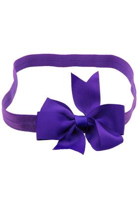 Girls Striped Ribbon Bow Hairband