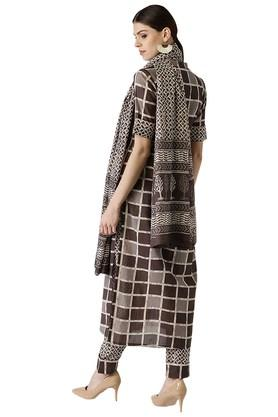 Womens Cotton Printed A-Line Kurta Set