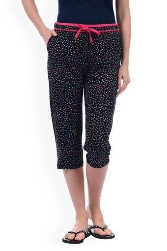 Womens 2 Pocket Printed Capris