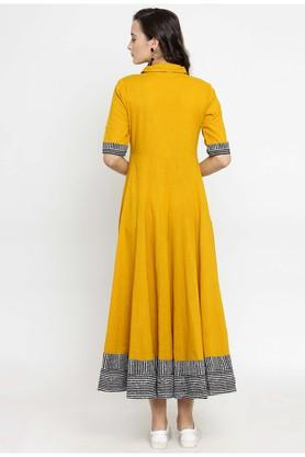 Womens Solid Flared Dress