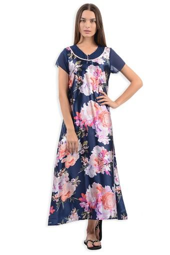 Womens V Neck Printed Maxi Dress