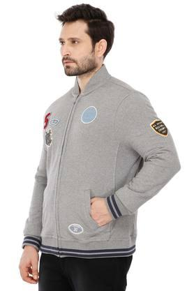 Mens Patch Work Casual Sweatshirt