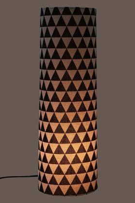 Round Geometric Print Table Lamp - 50 cms