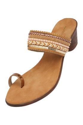 Womens Ethnic Slip On Heels
