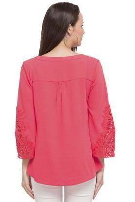 Womens V-Neck Lace Tunic