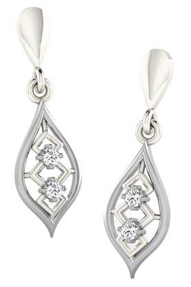 SILVER IMPRESSION Sparkles 18 Kt 0.04 Cts Diamond Earrings - T50010