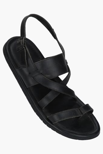 Mens Leather Buckle Closure Sandals