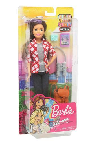Girls Barbie Travel Skipper Doll