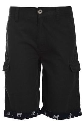 Boys 6 Pocket Solid Shorts