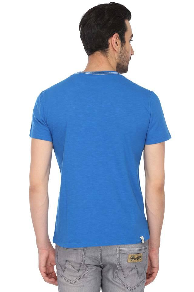 Mens Round Neck Printed T-Shirt