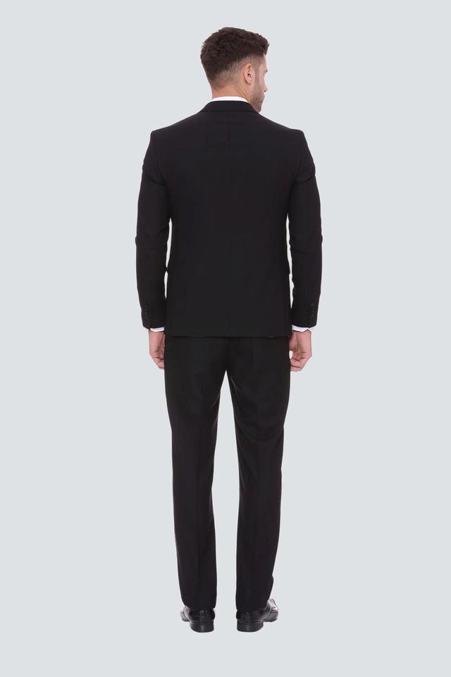 Mens Regular Fit Notched Lapel Solid Suit