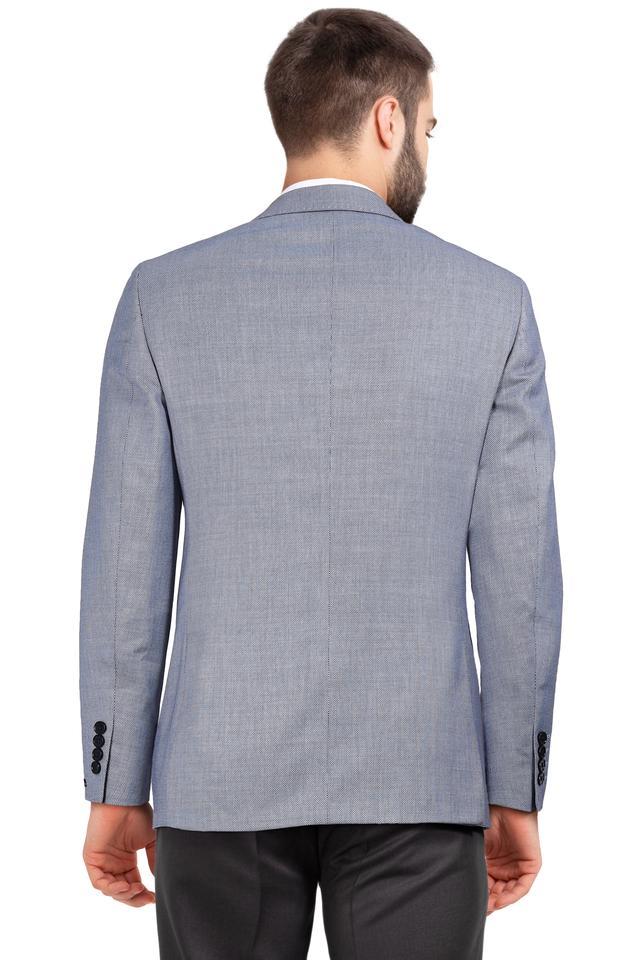 Mens Notched Lapel Textured Blazer