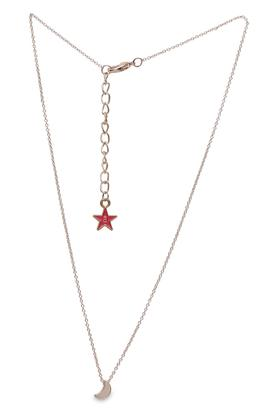 Womens Moon Rose Gold Plated Necklace