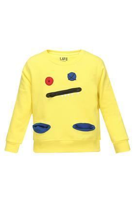 Boys Round Neck Patch Sweatshirt