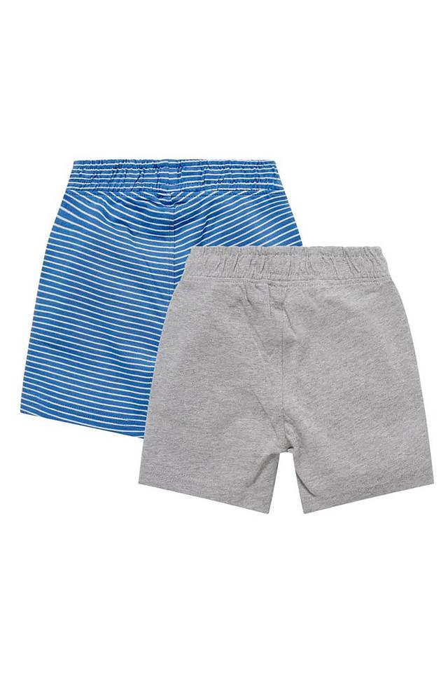 Boys 2 Pocket Striped and Slub Shorts - Pack of 2