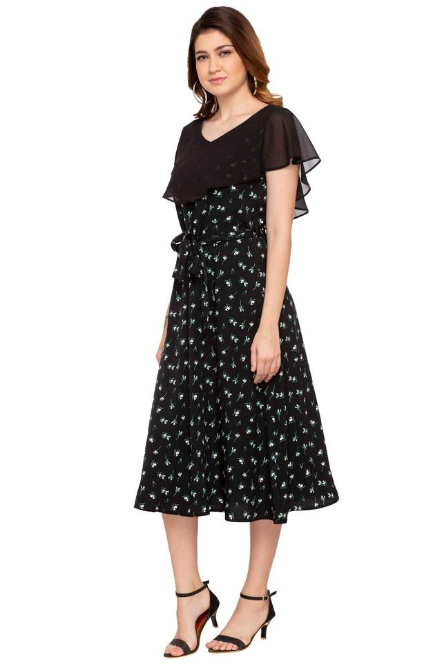 eb472a9b25 Buy STOP Womens V Neck Printed A-Line Dress | Shoppers Stop