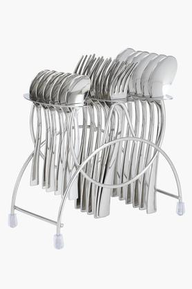 Fork and Spoon with Cutlery Holder Set of 18