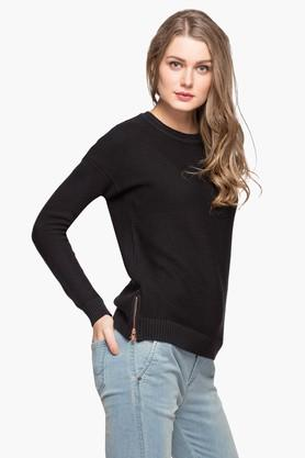 LEVIS Womens Round Neck Solid Sweater - 203287473